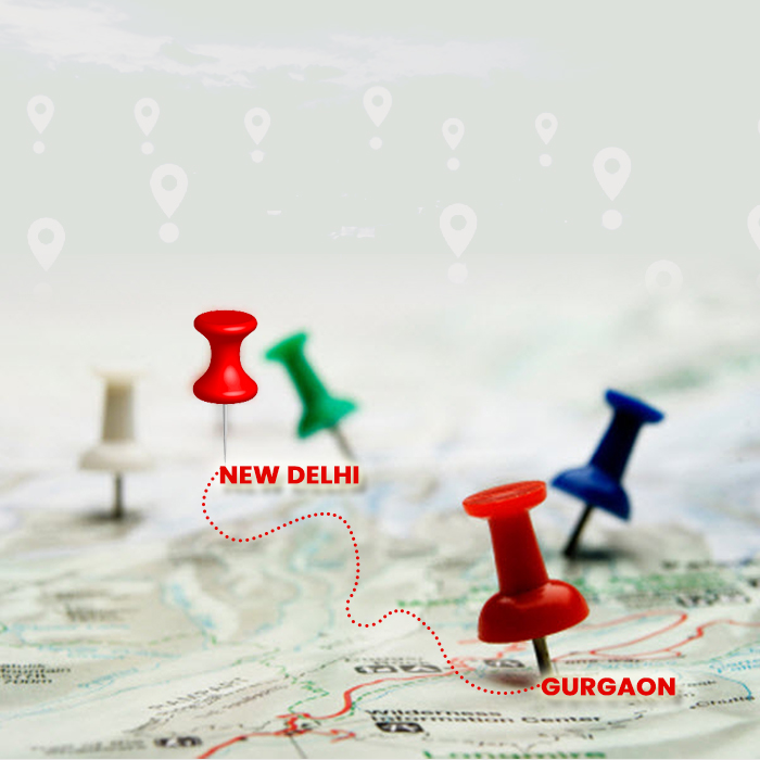 GURGAON IS CONNECTED TO NEW DELHI