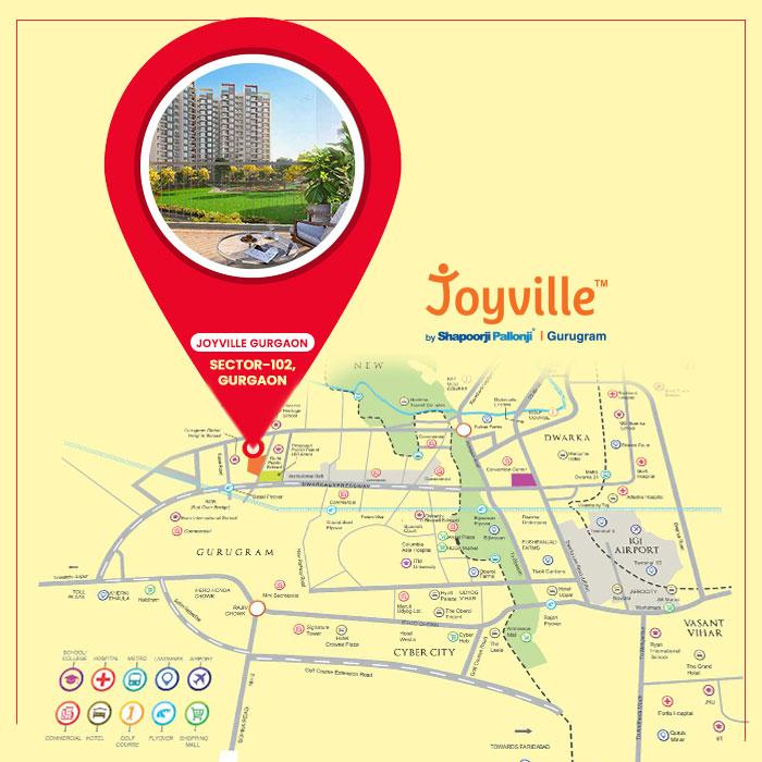 Joyville Gurgaon Location Map
